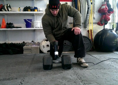 Warming cold weights for lifting