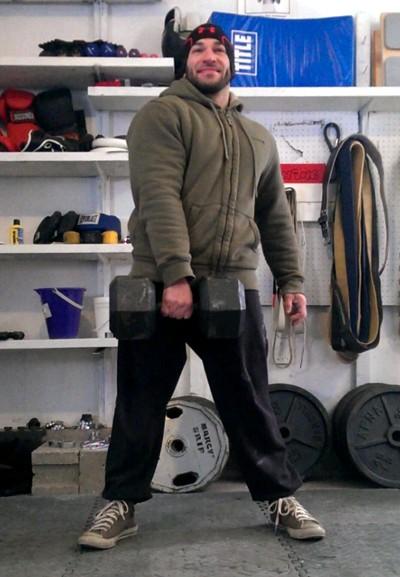 Arrampicare in un garage freddo